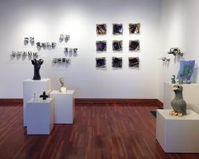 Judith Andre (glass), Pam Young (ceramics), Su Harvey (sculpture & ceramic tile)