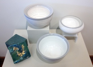 Jan Fox (encaustic box), Mark Entzminger (turned pvc)