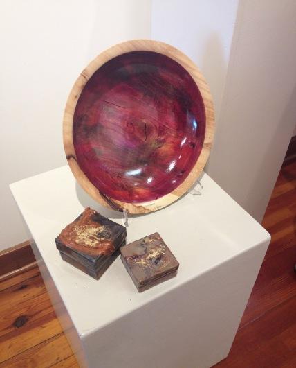 Jan Fox (encaustic box), Mark Entzminger (turned wood)