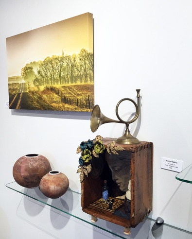 Bruce Thiel (photography), Willie Sapp (ceramics), Karen Holiday (assemblage)