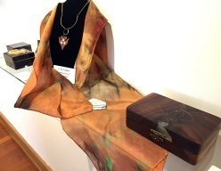 C.M. Galdre (wood box and jewelry)