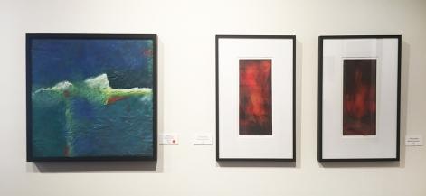 Jan Fox (encaustic), Valerie Knobel (oil paintings)
