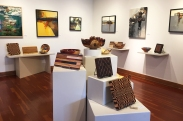 Larry Schwisow (cutting boards), PJ Peters (mixed media with wood), Mark Entzminger (turned wood bowls)