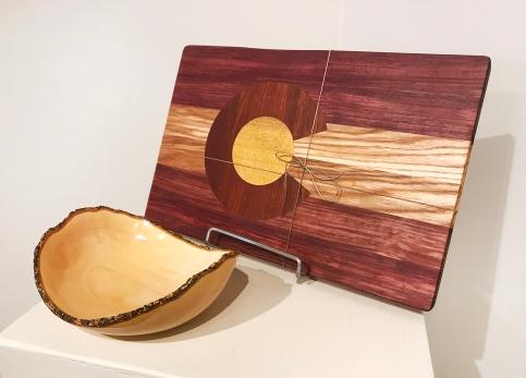 Mark Entzminger (turned wood), Larry Schwisow (wood cutting boards)