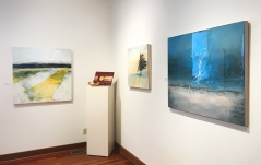 Mark Entzminger (turned wood), Larry Schwisow (wood cutting boards), PJ Peters (mixed media)