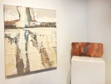 PJ Peters (mixed media), Larry Schwisow (wood cutting boards)