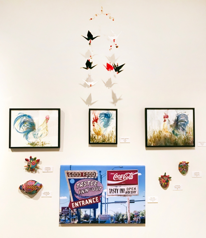 Carol Devall (mixed media), Bruce Thiel (photography), Gabriela Vlad Moscu (watercolors)