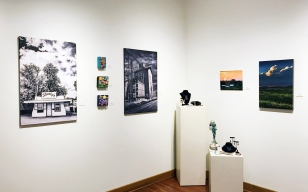 Carol Devall (mixed media), Bruce Thiel (photography), Gabriela Vlad Moscu (beadwork/jewelry)