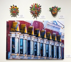 Carol Devall (beaded masks), Bruce Thiel (photography)