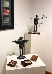 Gretchen Olberding (pastel & sculpture), Larry Schwisow (cutting boards)