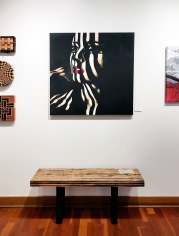 Larry Schwisow (cutting boards and bench), Alias Kane (paintings)
